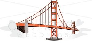 Golden Gate clipart Honeymoon Golden Clipart Gate Bridge