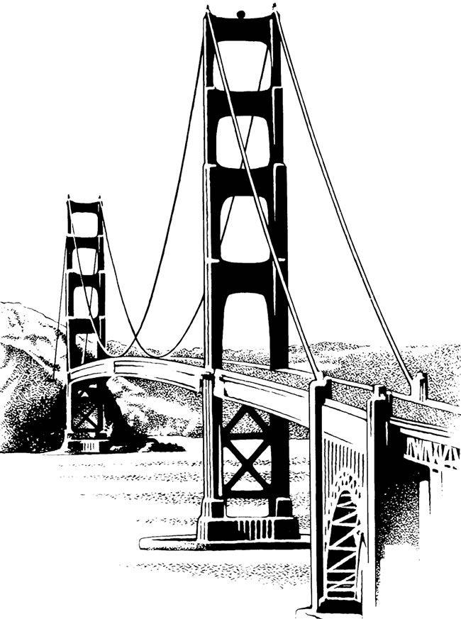 Golden Gate clipart VintageFeedsacks: more Bridge art 10