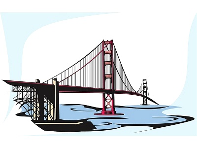 Golden Gate clipart Golden art Gate gate bridge
