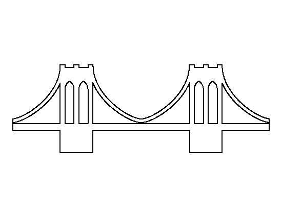 Bridge clipart outline Clip Outline Cliparts Bridge Free