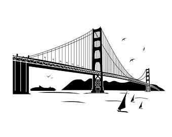 Golden Gate clipart brooklyn bridge Bridge Etsy SVG Pdf Gate