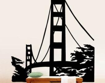 Golden Gate clipart brooklyn bridge Golden gate Wall Bridge Decal