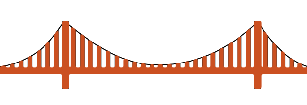 Golden Gate clipart simple bridge Gate  minimal Bridge Golden