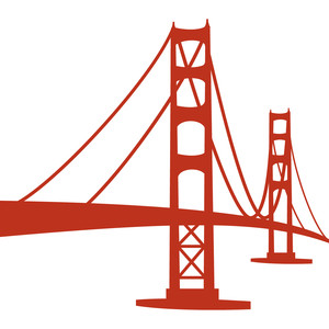 Golden Gate clipart simple bridge #138329: View gate  Silhouette