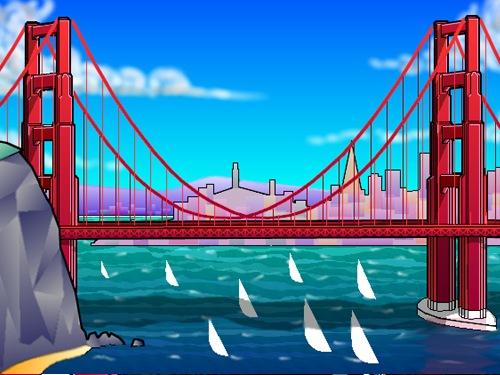 Golden Gate clipart simple bridge Gate of clip Architectural Bride