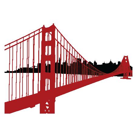 Golden Gate clipart simple bridge Gate Photography and Wall bridge