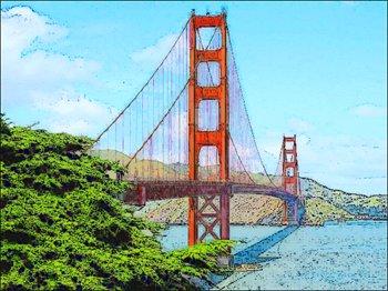 Golden Gate clipart simple bridge Gate Clipart gate  bridge