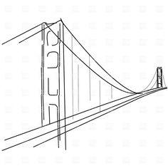 Golden Gate clipart simple bridge Gate Golden How Golden simple