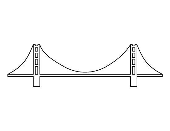 Golden Gate clipart simple bridge Gate crafts on the scrapbooking