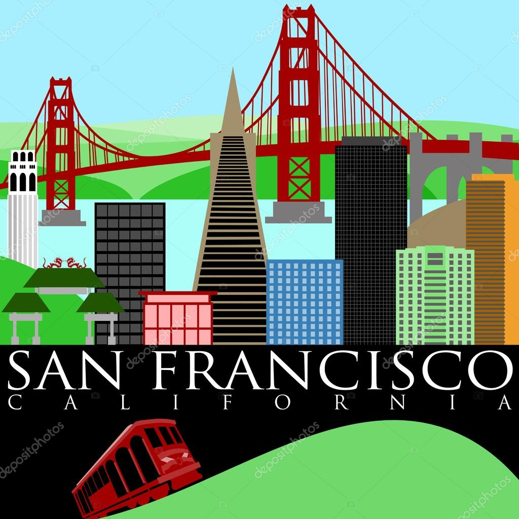 Golden Gate clipart trolley car — Francisco Cable Car Trolley