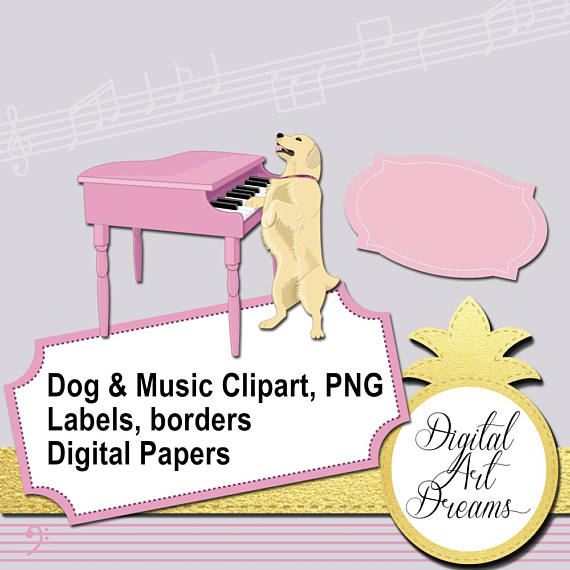 Piano clipart pink Piano playing collection Clipart Playing