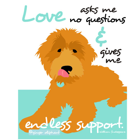 Goldendoodle clipart Etsy Doodle Labradoodle Goldendoodle Wall