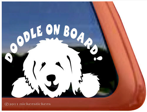 Goldendoodle clipart 5 Vinyl Quality Decal DC840OB