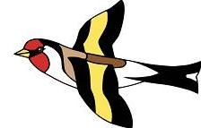 Goldfinch clipart Flying goldfinch Free Clipart Goldfinch