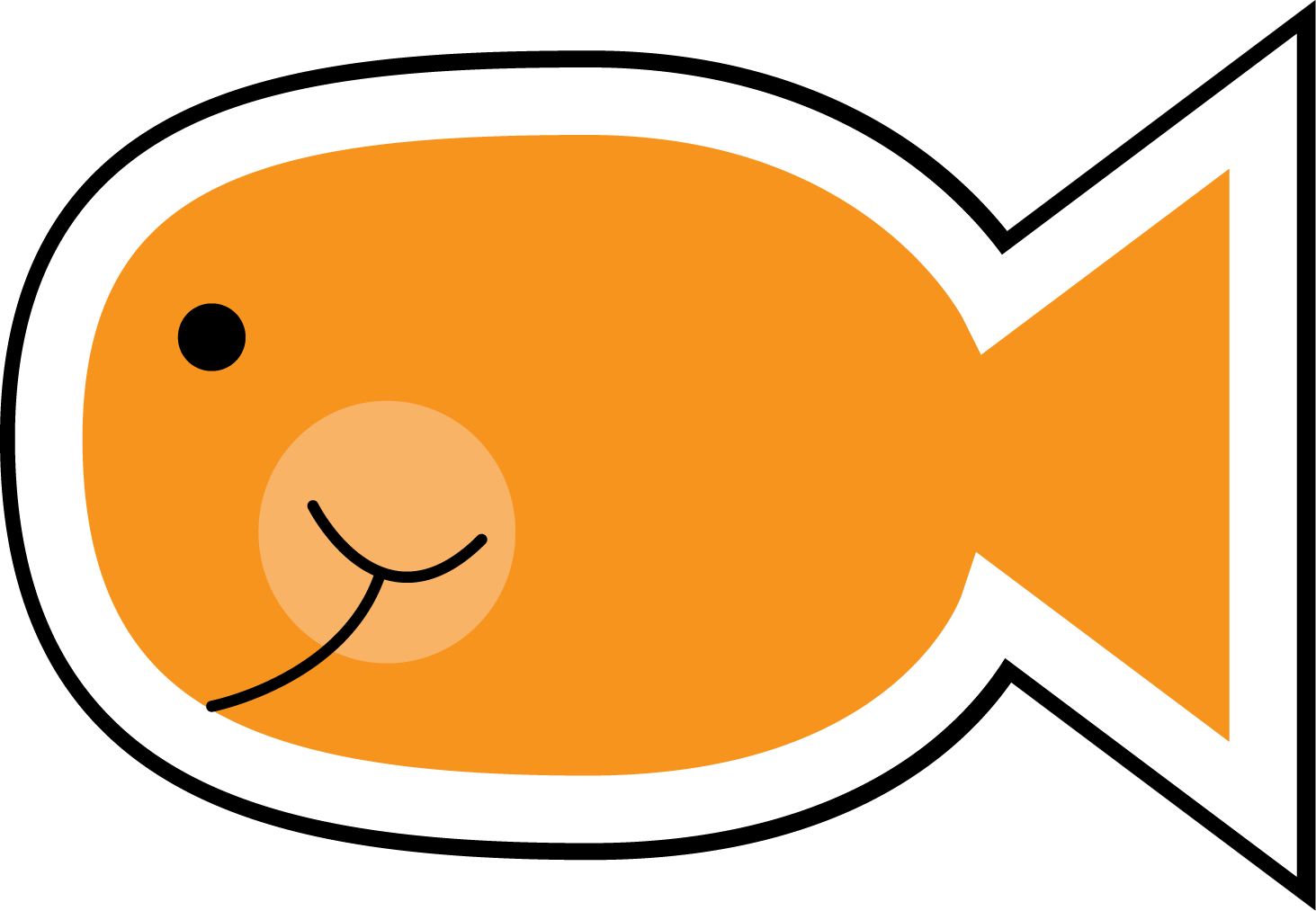 Goldfish clipart White And Goldfish Images Panda