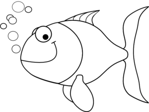 Black & White clipart fish Clipart Cute Fish Clip Black