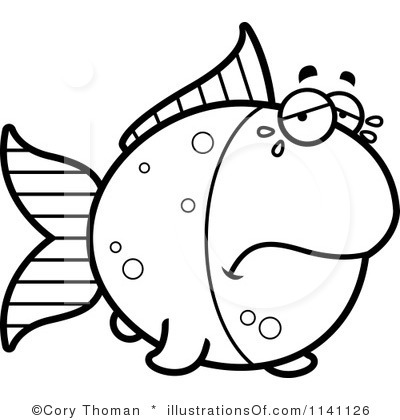 Blueberry clipart black and white Goldfish Free Clipart Clipart Black