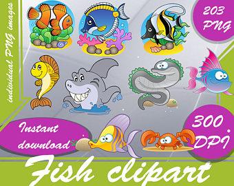 Goldfish clipart ocean fish Fish 300 cute cartoon PNG