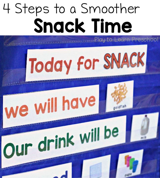 Goldfish clipart snacktime Preschool a Smoother Play Steps