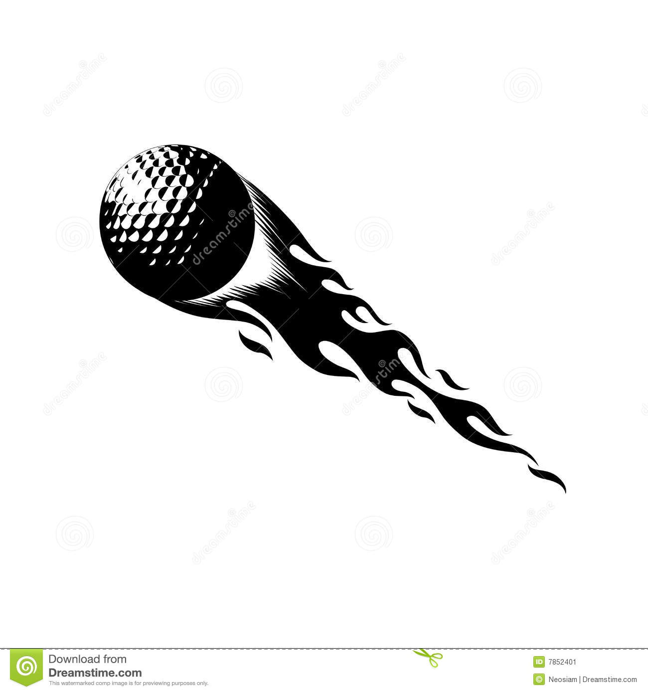 Golf Ball clipart angry Flaming ClipartFest golf Flaming clipart