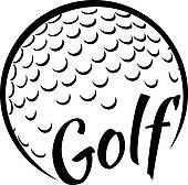 Golf Ball clipart black and white And illustrations royalty text golf
