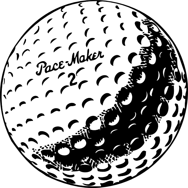 Golf Ball clipart black and white Golfball online clip vector Clker