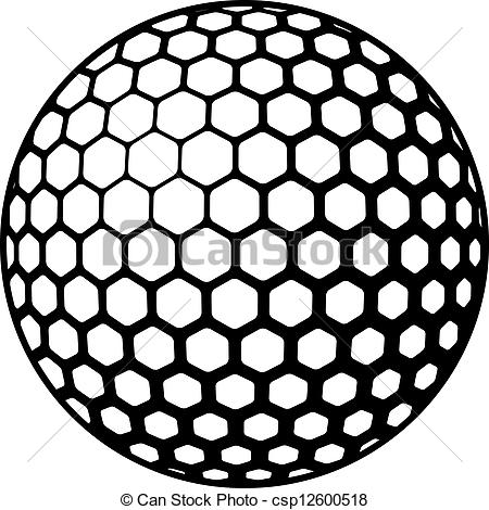 Golf Ball clipart black and white Black  Clipart Panda Clipart