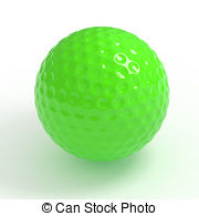 Golf Ball clipart colored Ball vector Mini Illustrations and