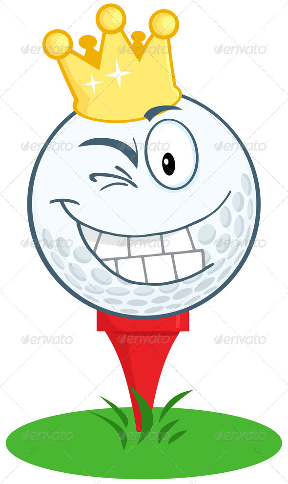 Golf Ball clipart fierce Golf Happy Gold Royalty RF