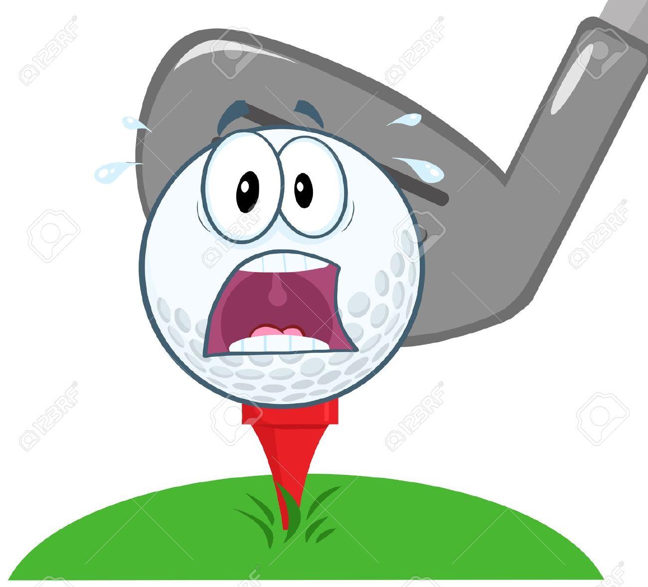 Golf Ball clipart fierce Golf Cartoon Golf Over Tee