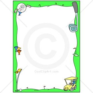 Golf Ball clipart frame Free border clipart clipart border