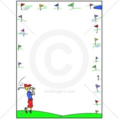 Golf Ball clipart frame Golf Border clip Clip Home