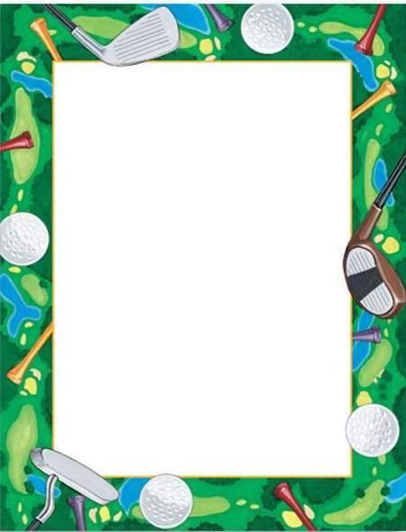 Golf Ball clipart frame Golf art Design border 1
