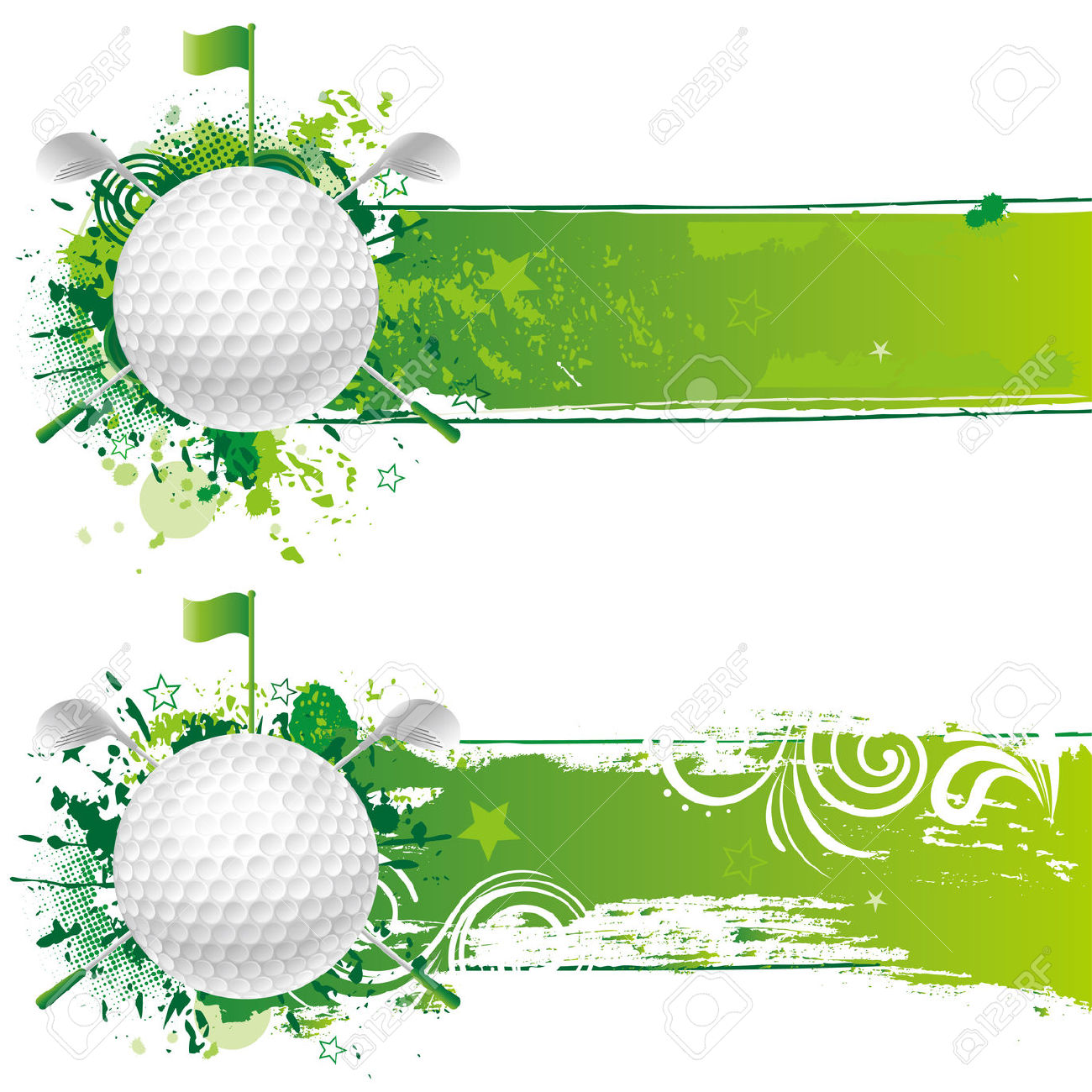 Golf Course clipart border Blank Clip clipart Art Borders