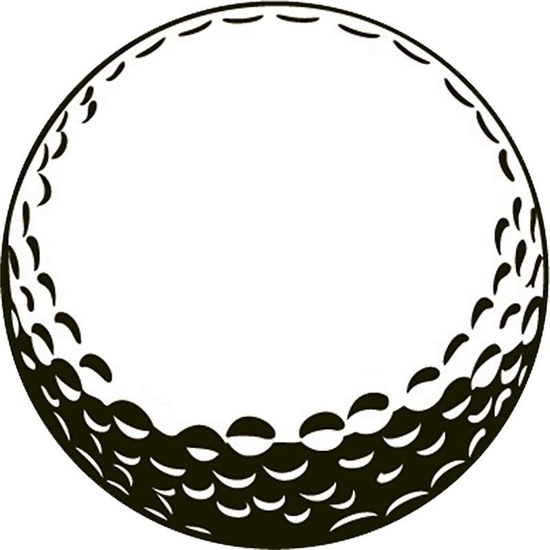 Golf Ball clipart outline Golf Stickers Sticker