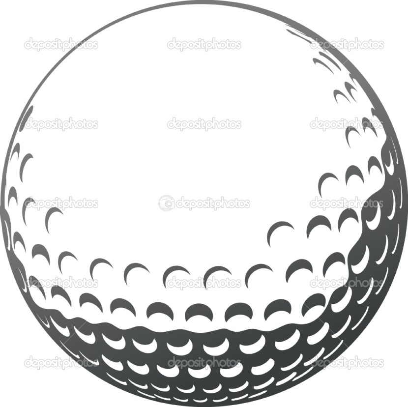 Golf Ball clipart outline Clip Clipartion Golf One Gt
