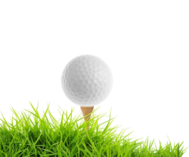 Golf Ball clipart teed up Up Ball on grass Png