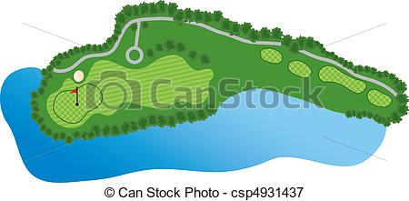 Golf Course clipart Illustration bunker Golf  with