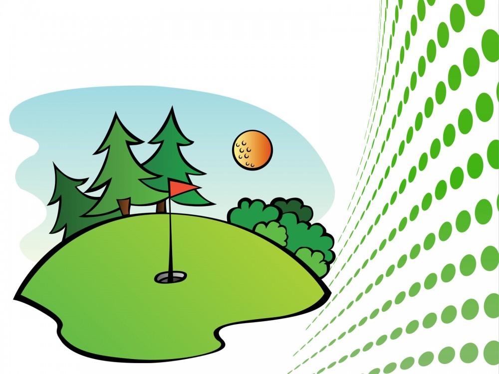 Golf Course clipart border Golf Clipart Clipart ~ 2486