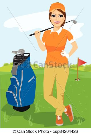 Golf Course clipart female golfer With golfer  of female