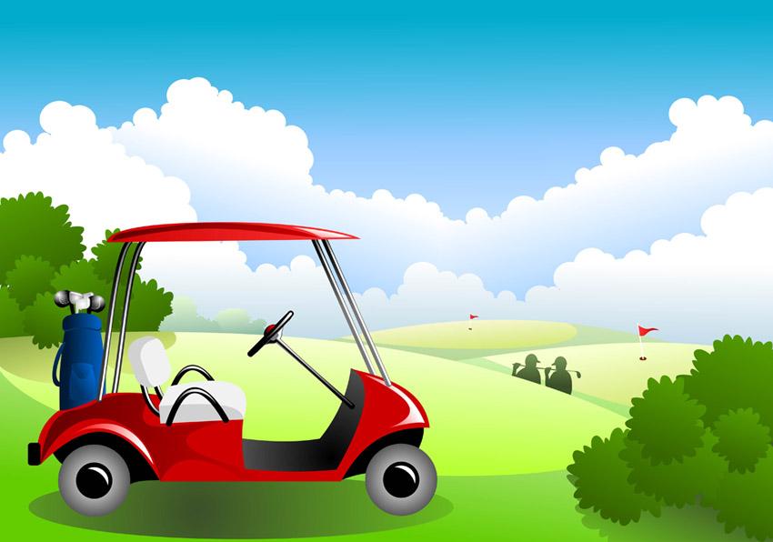 Golf Course clipart golf buggy #5