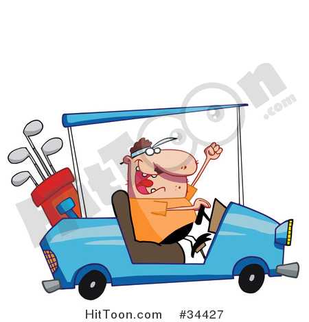 Golf Course clipart golf buggy Golf Vector Illustrations  Stock