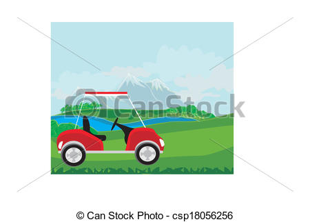 Golf Course clipart golf buggy The beautiful cart course of