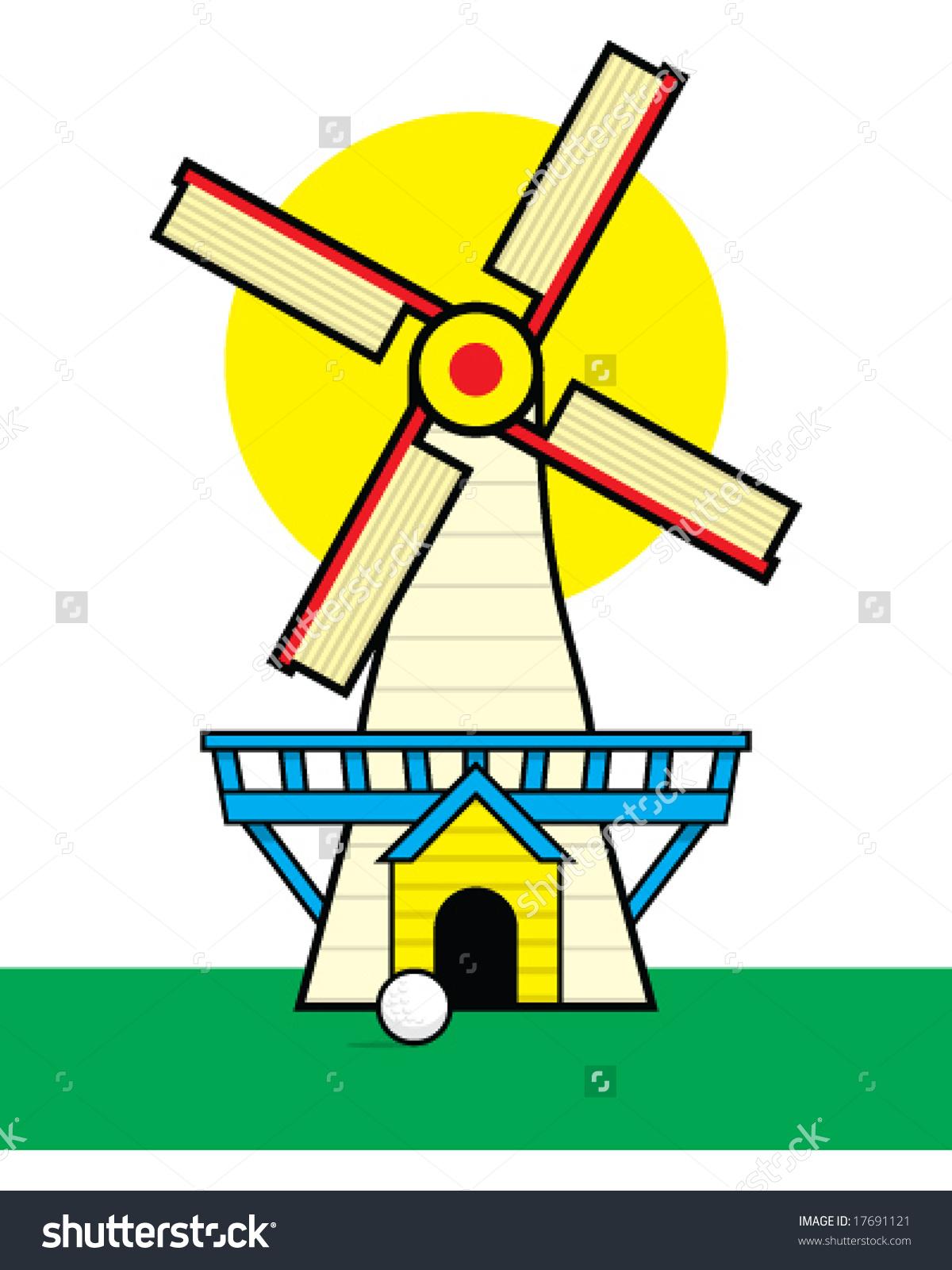 Golf Course clipart putt putt golf Clipart windmill windmill Mini clipart