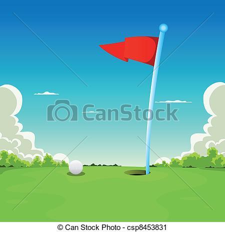 Golf Course clipart putting green Golf Art Green And Vector