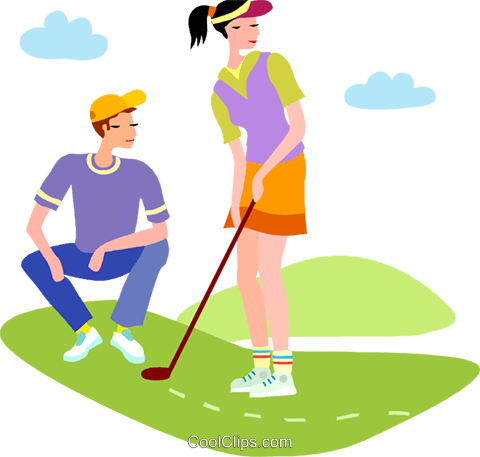 Golf Course clipart retirement Clipart of Couple a Golf