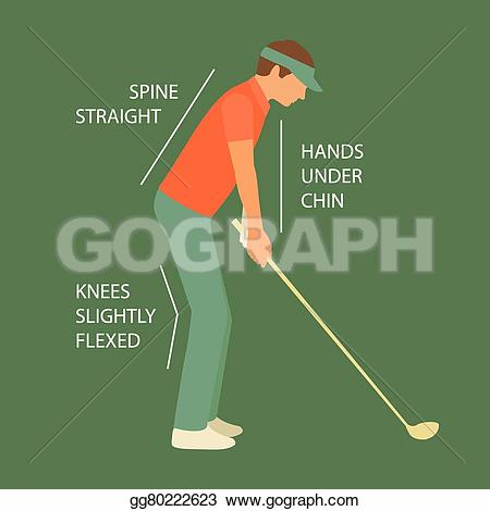 Golf Course clipart male golfer Vector Drawing Art sport club