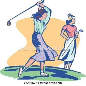 Golf Ball clipart lady golfer Search Golfer Clipart Golf Playing