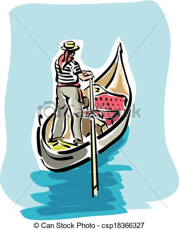 Gondola clipart black and white An  illustration of Vector