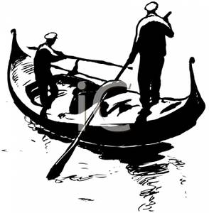 Gondola clipart black and white Clipart Rowing a Picture Picture